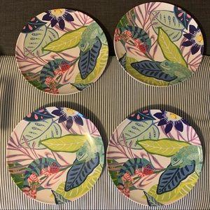 Anthropologie Summer '19 Melamine Plates set of 4